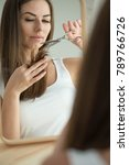 Small photo of Woman problem hair Woman problem hair