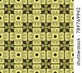seamless pattern with cross and ... | Shutterstock .eps vector #789769942