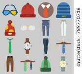 icon set about man accessories... | Shutterstock .eps vector #789770716