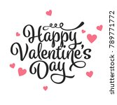 valentines day oblique... | Shutterstock .eps vector #789771772