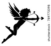 cute cupid  isolated amour... | Shutterstock .eps vector #789773398