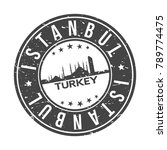 istanbul turkey usa stamp logo... | Shutterstock .eps vector #789774475
