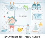 holiday card design with pirate ... | Shutterstock .eps vector #789776596