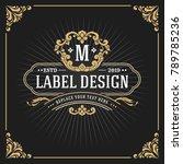 vintage luxury monogram banner... | Shutterstock .eps vector #789785236
