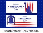 national freedom day...   Shutterstock .eps vector #789786436