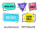 set of flat linear promotion... | Shutterstock .eps vector #789786658