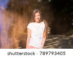 pretty young asian woman with...   Shutterstock . vector #789793405