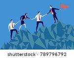 businessmen and businesswomen...   Shutterstock .eps vector #789796792