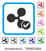 ripple valid icon. flat gray... | Shutterstock .eps vector #789801886