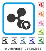 ripple thumb down icon. flat... | Shutterstock .eps vector #789803986