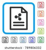 ripple invoice icon. flat grey...