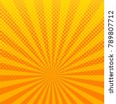 Yellow Shining Halftone Design...