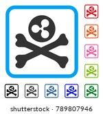 ripple death icon. flat gray... | Shutterstock .eps vector #789807946