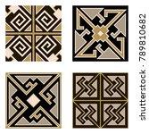 set of parquet floor  or... | Shutterstock .eps vector #789810682