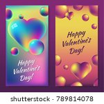 valentine's day colorful... | Shutterstock .eps vector #789814078