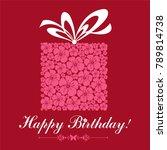 happy birthday card.... | Shutterstock .eps vector #789814738