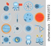 icon set about universe with... | Shutterstock .eps vector #789815572