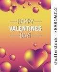 valentine's day verical... | Shutterstock .eps vector #789816052