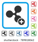 create ripple icon. flat grey... | Shutterstock .eps vector #789818062
