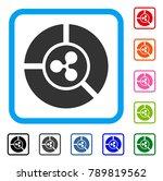 ripple diagram icon. flat gray...