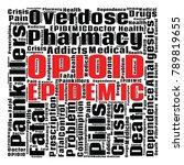 opioid crisis word cloud... | Shutterstock .eps vector #789819655