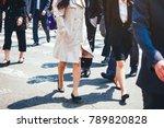 people walking on street...   Shutterstock . vector #789820828