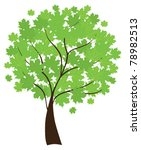 vector maple tree with green... | Shutterstock .eps vector #78982513