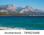 coast of mediterranean sea in...   Shutterstock . vector #789825688