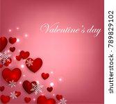 happy valentines day background ... | Shutterstock .eps vector #789829102