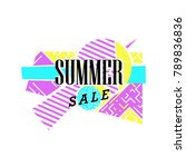 summer sale letter on abstract...