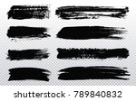 grunge brush strokes.vector... | Shutterstock .eps vector #789840832