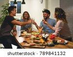 toast to my friends | Shutterstock . vector #789841132
