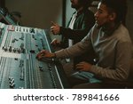 handsome young sound producers... | Shutterstock . vector #789841666