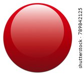 glossy shiny red button  badge... | Shutterstock . vector #789842125