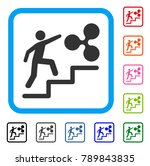 person climbing to ripple icon. ... | Shutterstock .eps vector #789843835
