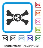 ripple death icon. flat grey... | Shutterstock .eps vector #789844012