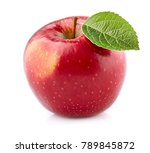 apple with leaf in closeup | Shutterstock . vector #789845872