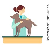 veterinarian female character.... | Shutterstock .eps vector #789848146