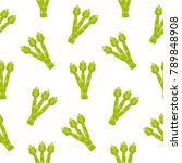 seamless pattern with asparagus ... | Shutterstock .eps vector #789848908