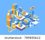 vector bright illustration of... | Shutterstock .eps vector #789850612