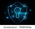 internet technology cyber... | Shutterstock .eps vector #789853066