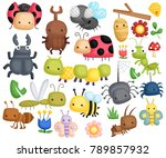 a bug illustration with many... | Shutterstock .eps vector #789857932