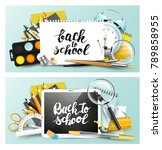 modern design headers with... | Shutterstock .eps vector #789858955