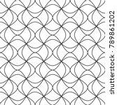 vector seamless texture. modern ... | Shutterstock .eps vector #789861202
