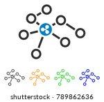 ripple network nodes icon.... | Shutterstock .eps vector #789862636