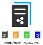 ripple price copy icon. vector... | Shutterstock .eps vector #789862696