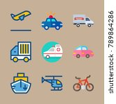 icon set about transport with... | Shutterstock .eps vector #789864286