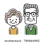 friendly senior couple | Shutterstock .eps vector #789864982