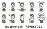 senior male  set  variation | Shutterstock .eps vector #789865012