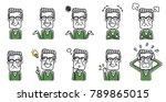 senior male  set  variation | Shutterstock .eps vector #789865015